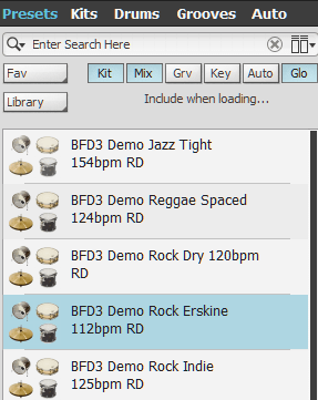 FXpansion BFD3 Review presets