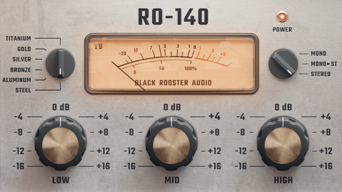Black Rooster Audio RO-140 EQ Material and Stereo