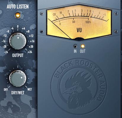 Black Rooster Audio KH-EQ1 Review auto listen output blend VU meter